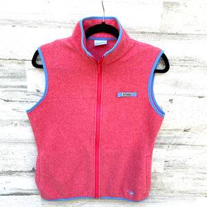 Columbia PFG Pink Fleece Full Zip Vest
